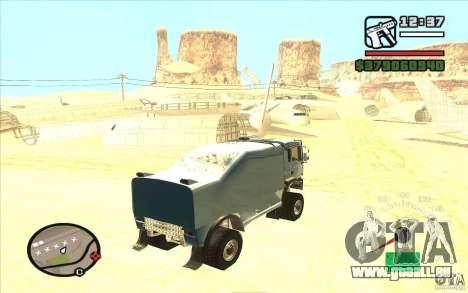 MAN TGA für GTA San Andreas zurück linke Ansicht