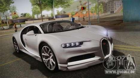 Bugatti Chiron 2017 v2.0 Dubai Plate für GTA San Andreas