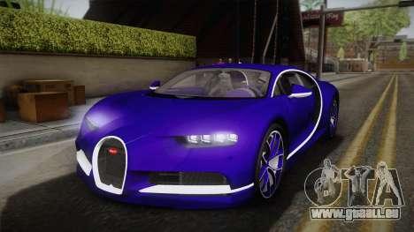 Bugatti Chiron 2017 v2.0 pour GTA San Andreas