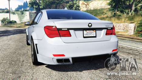 GTA 5 BMW 760Li (F02) Lumma CLR 750 [replace] arrière vue latérale gauche
