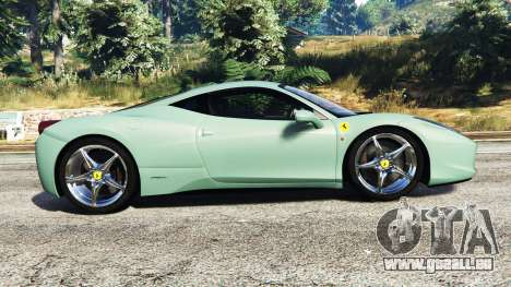 GTA 5 Ferrari 458 Italia [replace] vue latérale gauche