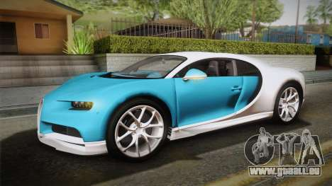 Bugatti Chiron 2017 v2.0 Dubai Plate pour GTA San Andreas vue intérieure