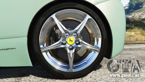 GTA 5 Ferrari 458 Italia [replace] arrière droit vue de côté