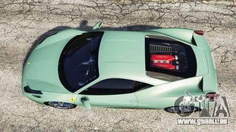 GTA 5 Ferrari 458 Italia [replace] vue arrière
