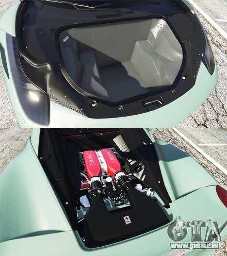 GTA 5 Ferrari 458 Italia [replace] rechte Seitenansicht
