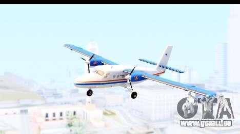 DHC-6-400 RCMPGRC pour GTA San Andreas sur la vue arrière gauche