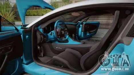 Bugatti Chiron 2017 v2.0 Dubai Plate für GTA San Andreas Rückansicht