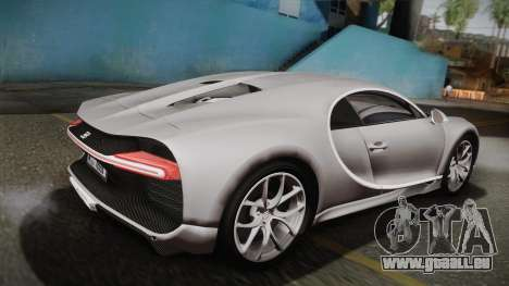 Bugatti Chiron 2017 v2.0 Dubai Plate pour GTA San Andreas laissé vue