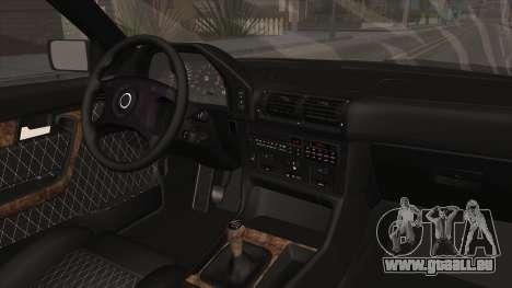 BMW Série 5 E34 ЕК pour GTA San Andreas vue intérieure