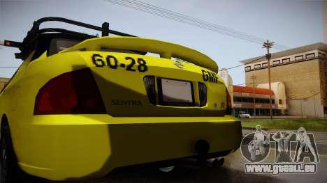 Nissan Sentra Taxi für GTA San Andreas obere Ansicht