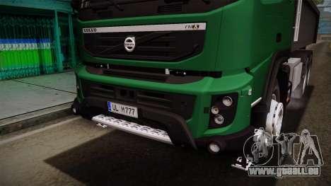 Volvo FMX dump Truck pour GTA San Andreas vue de côté