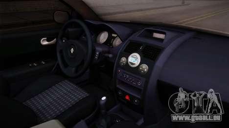 Renault Megane Sedan pour GTA San Andreas vue intérieure