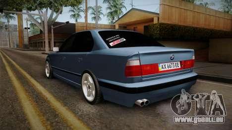 BMW Série 5 E34 ЕК pour GTA San Andreas sur la vue arrière gauche