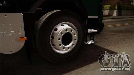 Volvo FMX dump Truck pour GTA San Andreas vue arrière