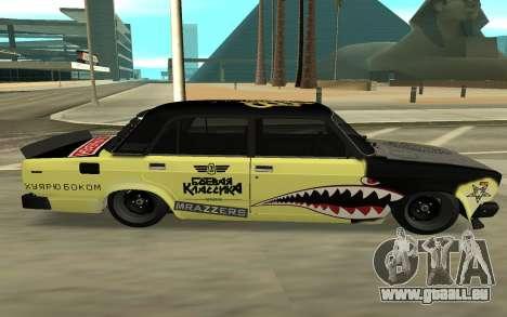 CHASSEUR 2105 DÉRIVE, ÉDITION pour GTA San Andreas sur la vue arrière gauche