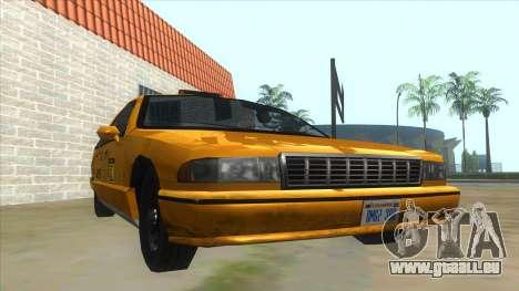 New Taxi für GTA San Andreas Rückansicht