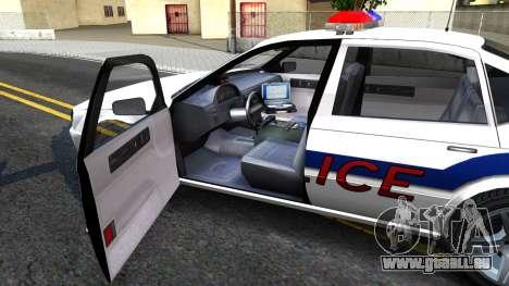 Declasse Merit Metropolitan Police 2005 für GTA San Andreas Innenansicht
