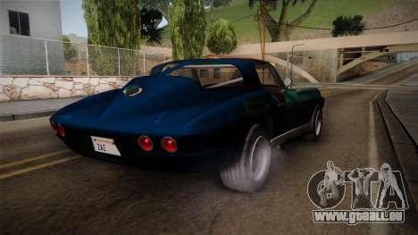 Chevrolet Corvette Coupe 1964 für GTA San Andreas zurück linke Ansicht