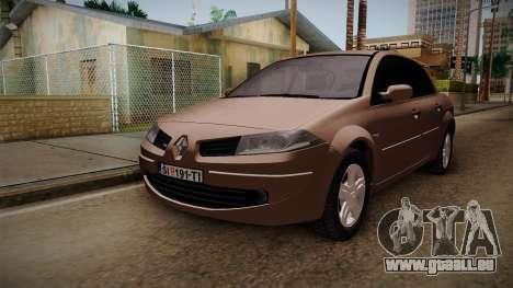 Renault Megane Sedan pour GTA San Andreas vue de droite