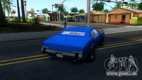 VC Xbox Sabre pour GTA San Andreas vue de droite