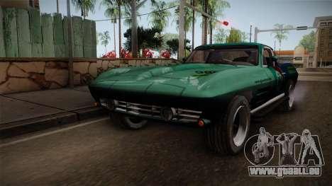 Chevrolet Corvette Coupe 1964 pour GTA San Andreas