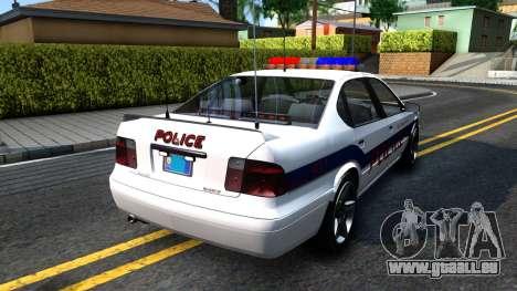 Declasse Merit Metropolitan Police 2005 für GTA San Andreas zurück linke Ansicht