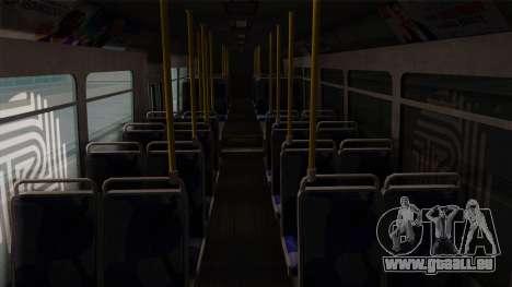 GTA V Transit Bus pour GTA San Andreas vue intérieure