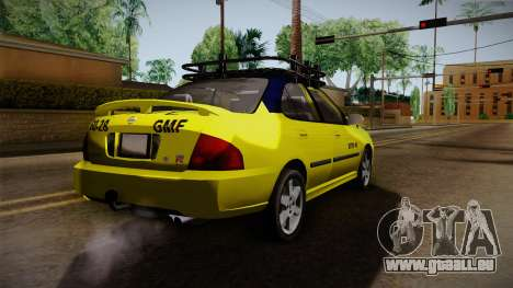 Nissan Sentra Taxi für GTA San Andreas zurück linke Ansicht