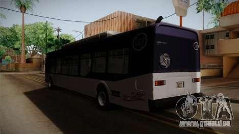 GTA V Transit Bus pour GTA San Andreas sur la vue arrière gauche