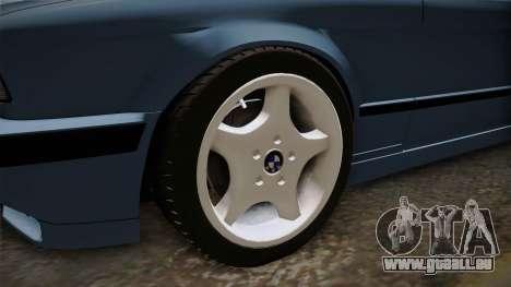 BMW Série 5 E34 ЕК pour GTA San Andreas vue arrière