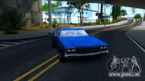 VC Xbox Sabre pour GTA San Andreas vue arrière