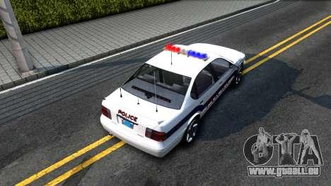 Declasse Merit Metropolitan Police 2005 für GTA San Andreas Rückansicht