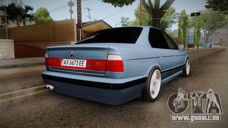 BMW Série 5 E34 ЕК pour GTA San Andreas laissé vue