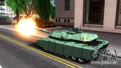 Leopard 2A7 für GTA San Andreas Innenansicht