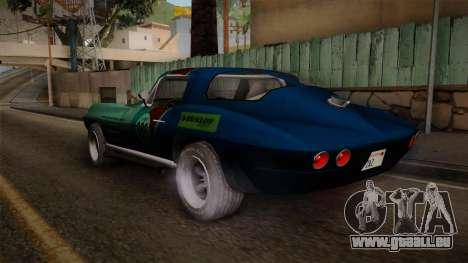 Chevrolet Corvette Coupe 1964 pour GTA San Andreas laissé vue