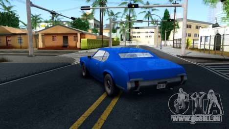 VC Xbox Sabre pour GTA San Andreas sur la vue arrière gauche