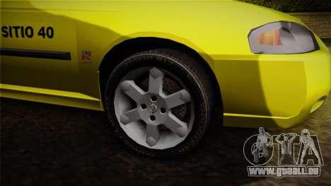 Nissan Sentra Taxi für GTA San Andreas Rückansicht