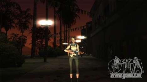 Resident Evil 6 - Shery Asia Outfit für GTA San Andreas dritten Screenshot