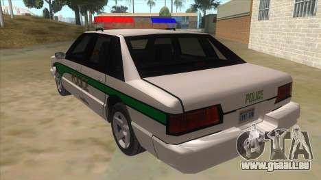 1992 Declasse Premier Angel Pine PD pour GTA San Andreas sur la vue arrière gauche