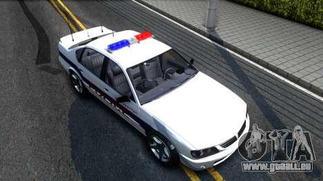 Declasse Merit Metropolitan Police 2005 für GTA San Andreas rechten Ansicht