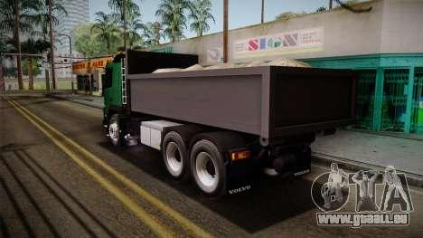 Volvo FMX dump Truck pour GTA San Andreas laissé vue