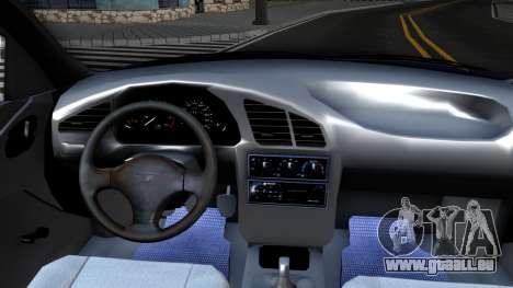 Daewoo Lanos pour GTA San Andreas vue intérieure