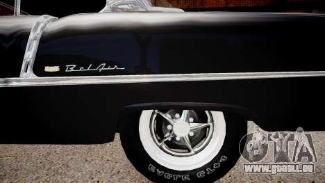 Chevrolet BelAir Sport Coupe 1955 pour GTA 4 Vue arrière