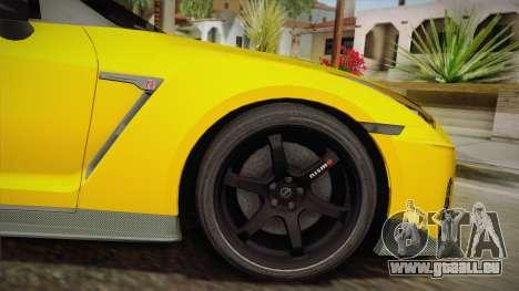 Nissan GT-R Nismo 2017 pour GTA San Andreas sur la vue arrière gauche