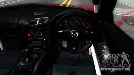 Mazda RX-7 Rocket Bunny pour GTA San Andreas vue intérieure