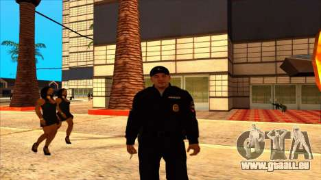 Mitglied der PPP, in die Sommer-uniform der neue für GTA San Andreas zweiten Screenshot