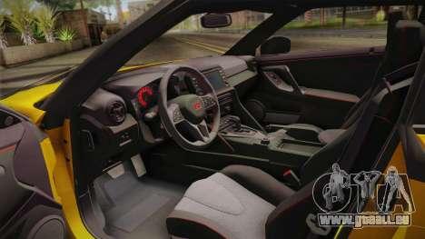 Nissan GT-R Nismo 2017 pour GTA San Andreas vue arrière