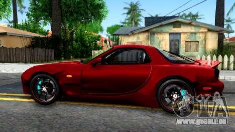 Mazda RX-7 Rocket Bunny pour GTA San Andreas laissé vue