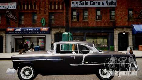 Chevrolet BelAir Sport Coupe 1955 pour GTA 4 Vue arrière de la gauche