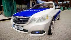 German Police Mercedes Benz E350 für GTA 4